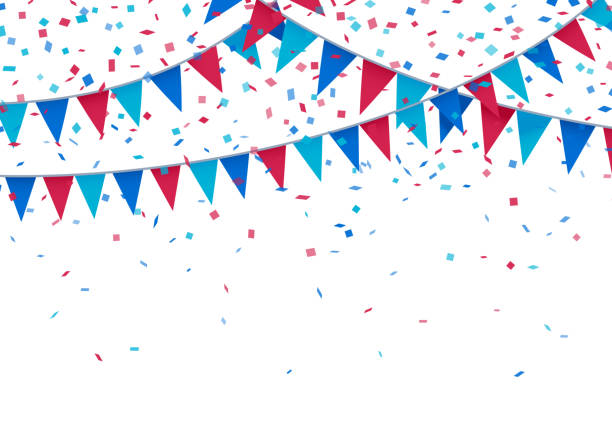 USA Patriotic Celebration Background Celebration fourth of july independence day bunting background. celebration stock illustrations
