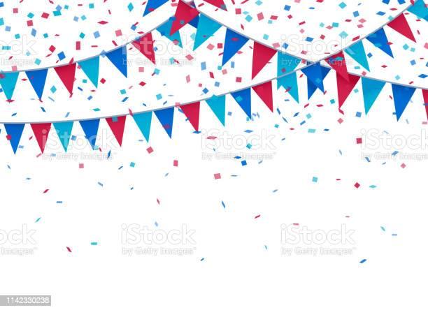 Usa Patriotic Celebration Background — стоковая векторная графика и другие изображения на тему Американская культура
