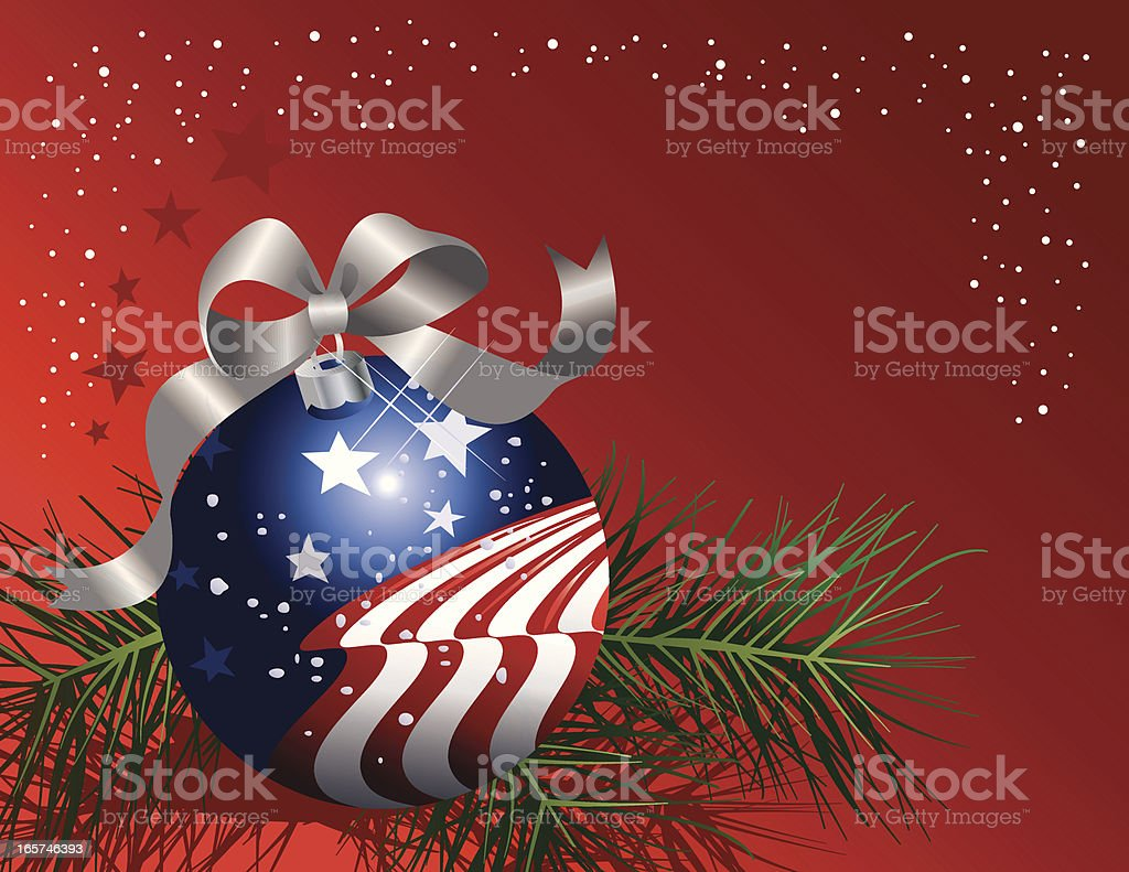 Patriotic Christmas.Patriotic Christmas Ornament Stock Illustration Download