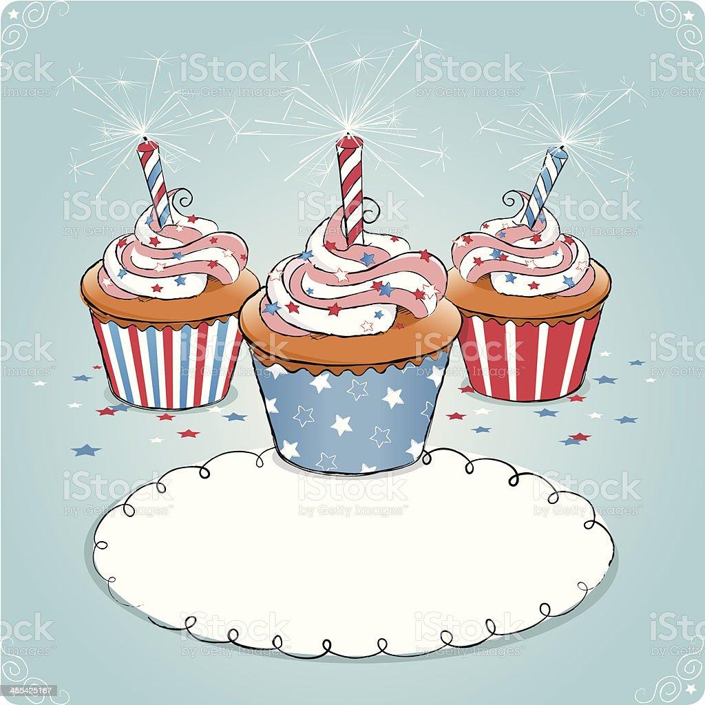 Patriotic Cupcakes royalty-free stock vector art