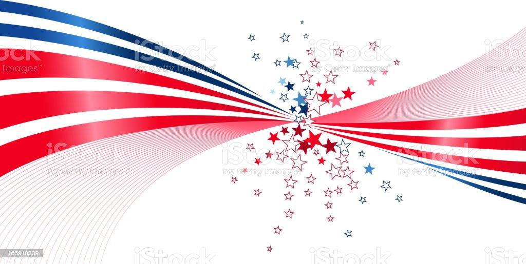 patriotic exploding royalty-free stock vector art