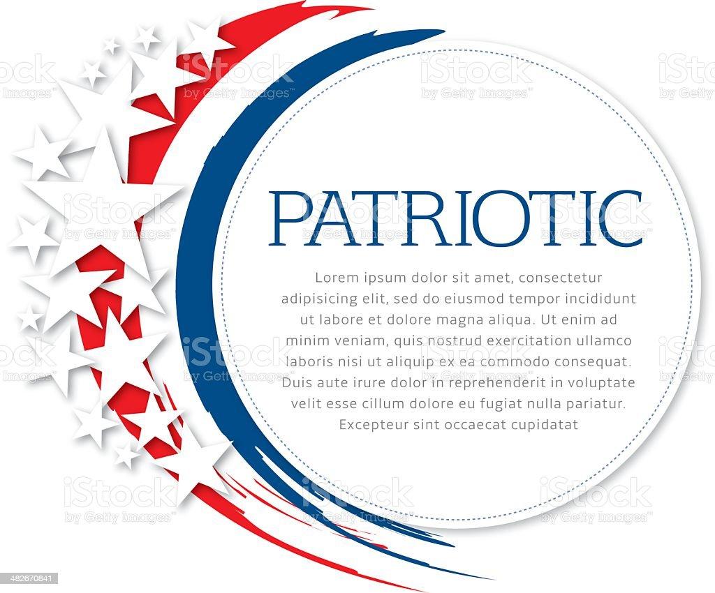 Patriotic Flyer vector art illustration