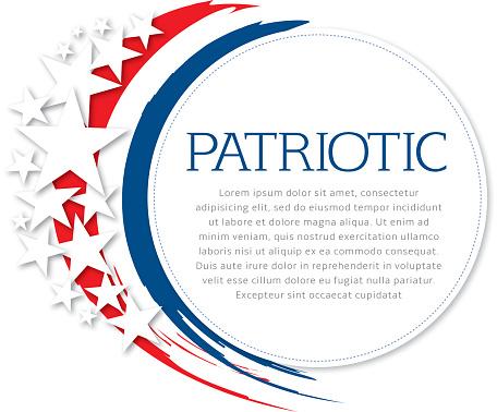 Patriotic Flyer Stock Illustration - Download Image Now