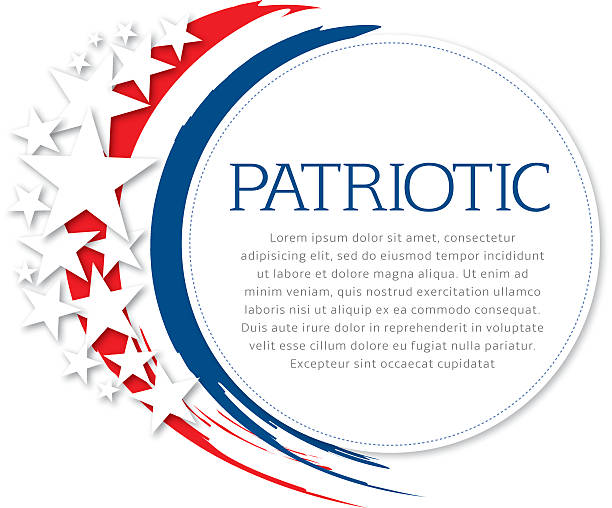 Patriotic Flyer Stars and flag colors with copy space. independence day illustrations stock illustrations