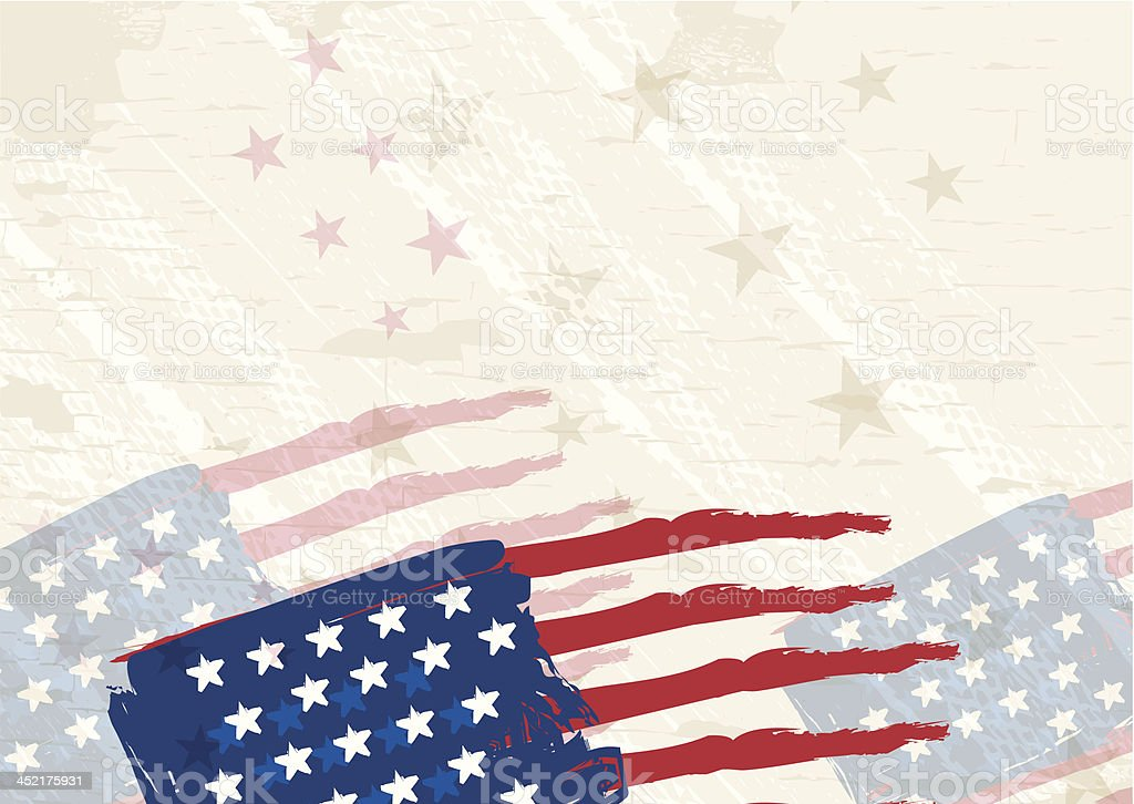 Patriotic fourth of July United States holiday background. vector art illustration