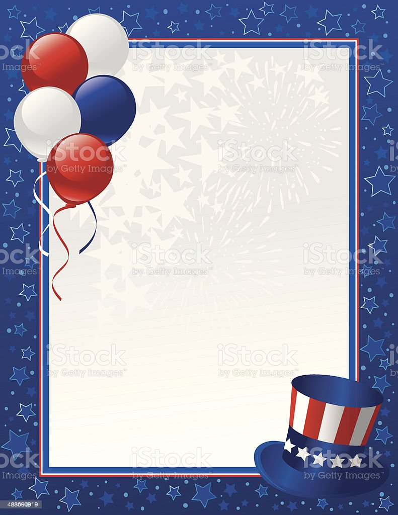 Patriotic Frame royalty-free stock vector art