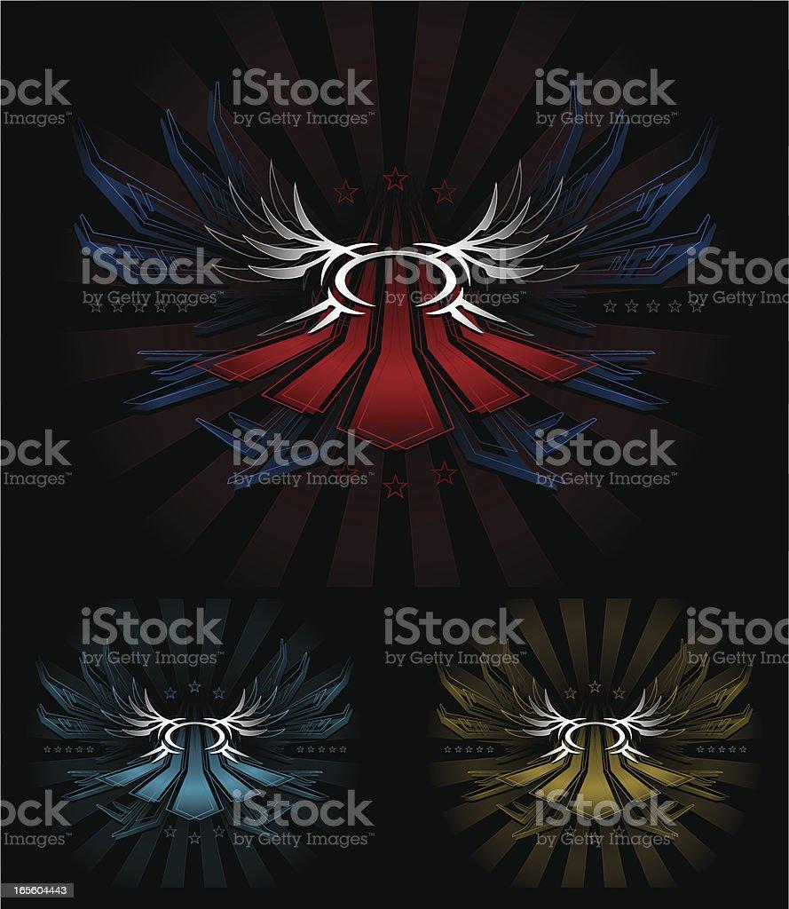 Patriotic Futuristic Crest royalty-free patriotic futuristic crest stock vector art & more images of abstract