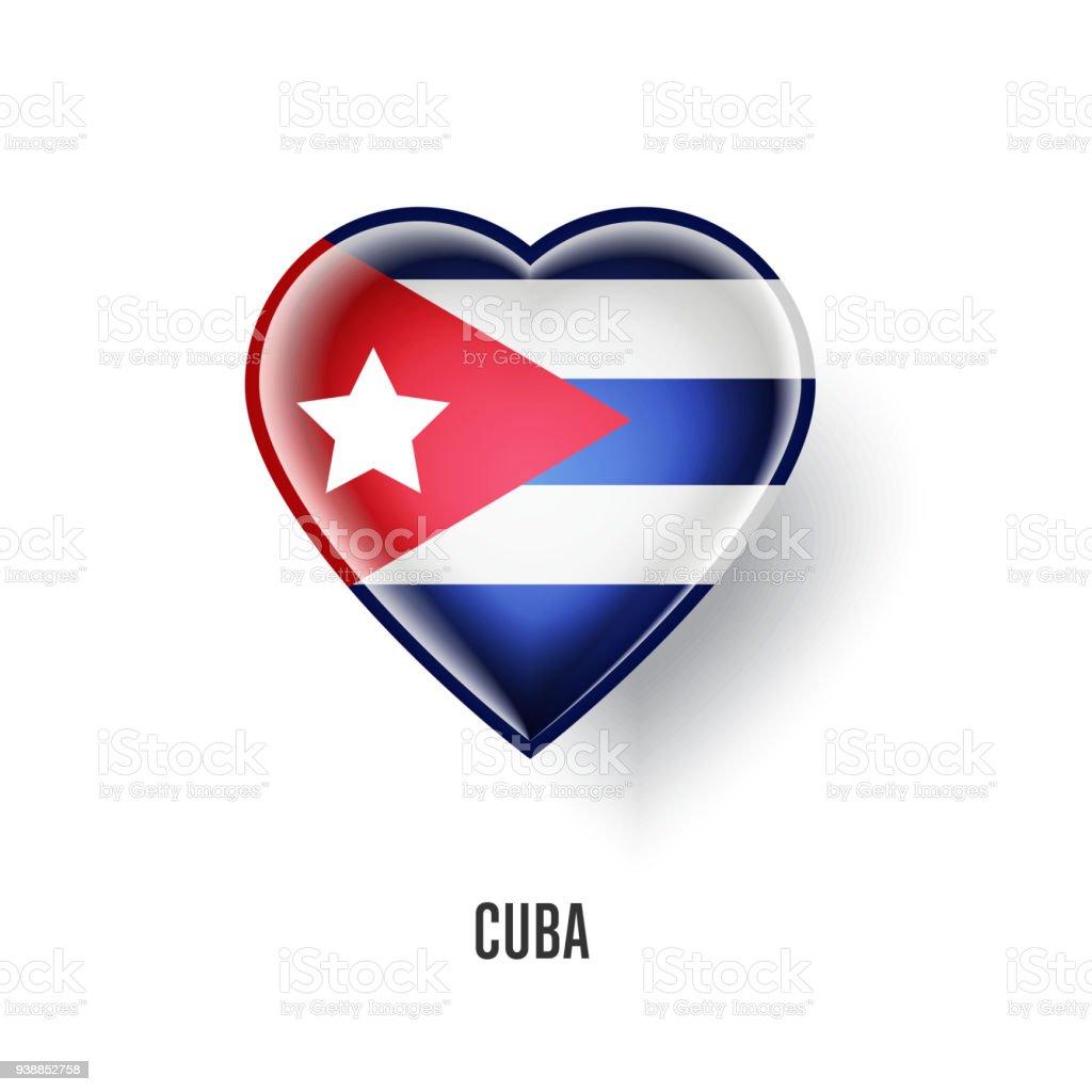 Patriotic Heart Symbol With Cuba Flag Stock Vector Art More Images