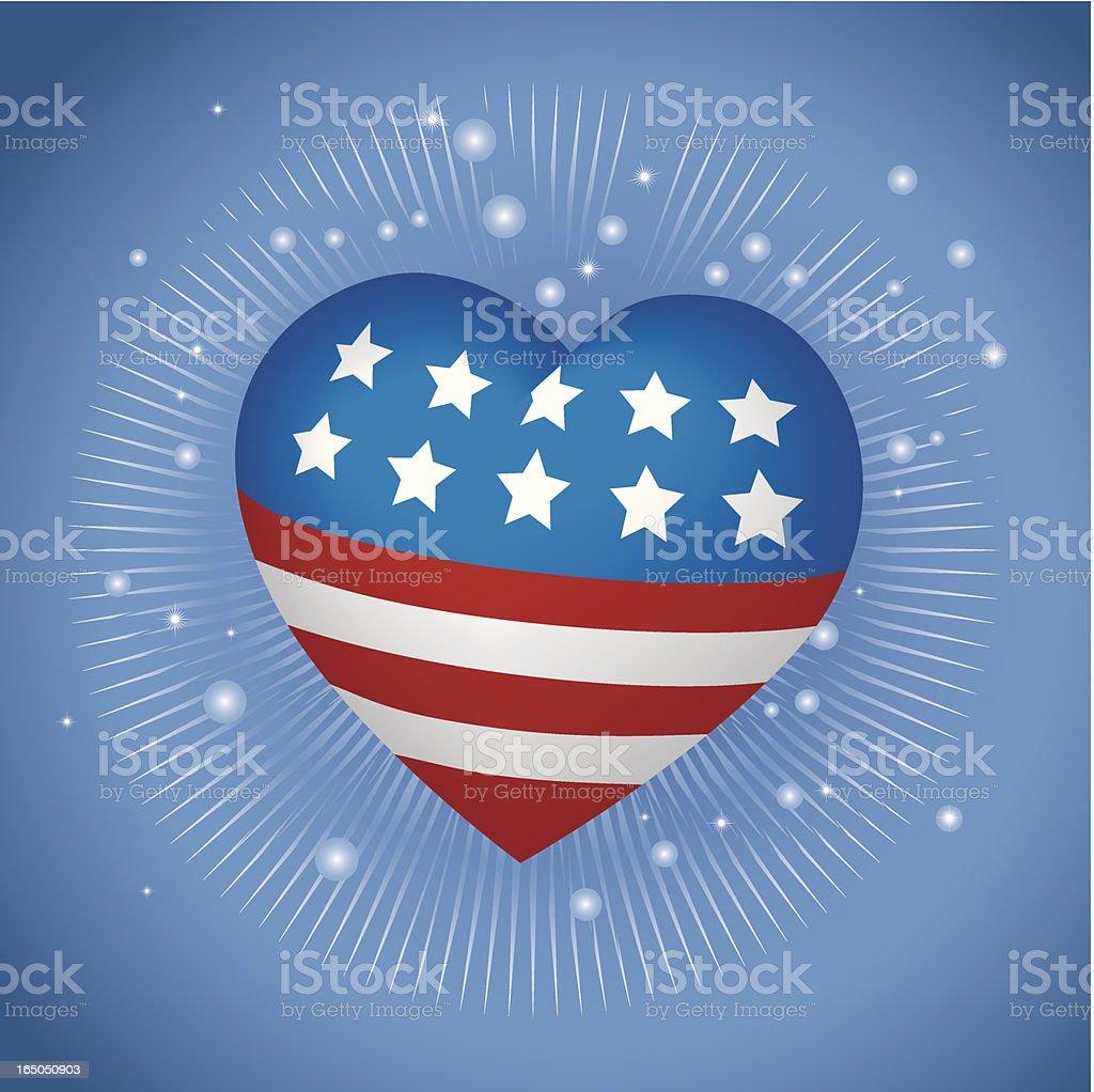 Patriotic Heart vector art illustration