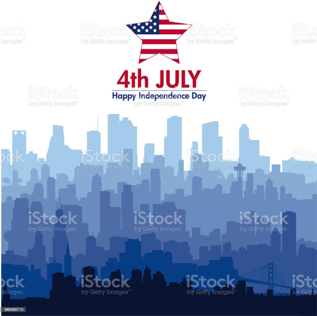 Patriotic independence day background vector art illustration
