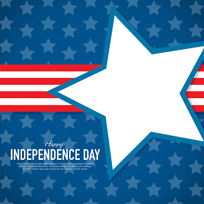 Patriotic Independence Day Celebration Greeting Card Design Template Stock Illustration - Download Image Now