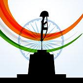 patriotic indian flag design vector design illustration