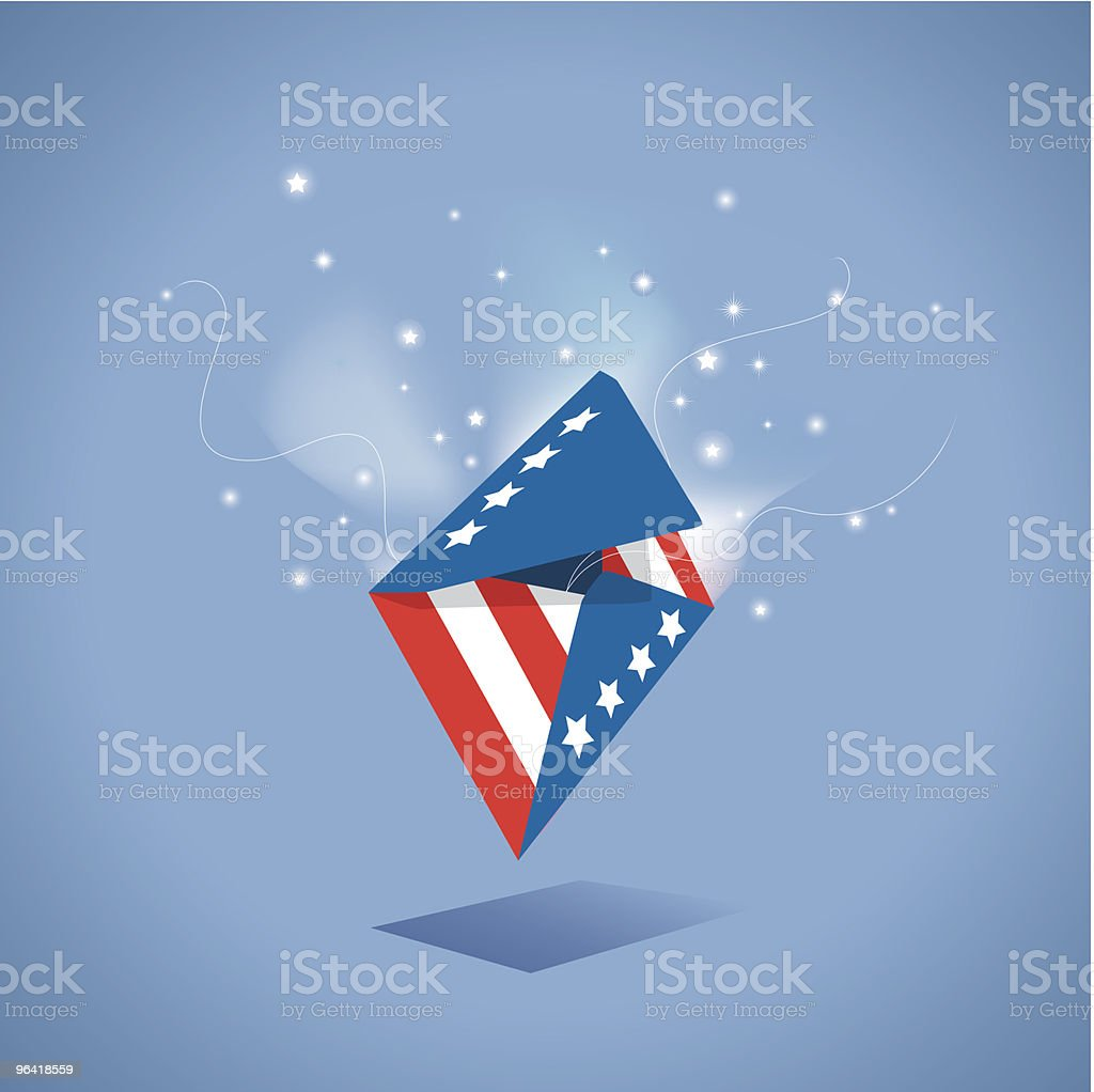 Patriotic Magic Envelope royalty-free stock vector art