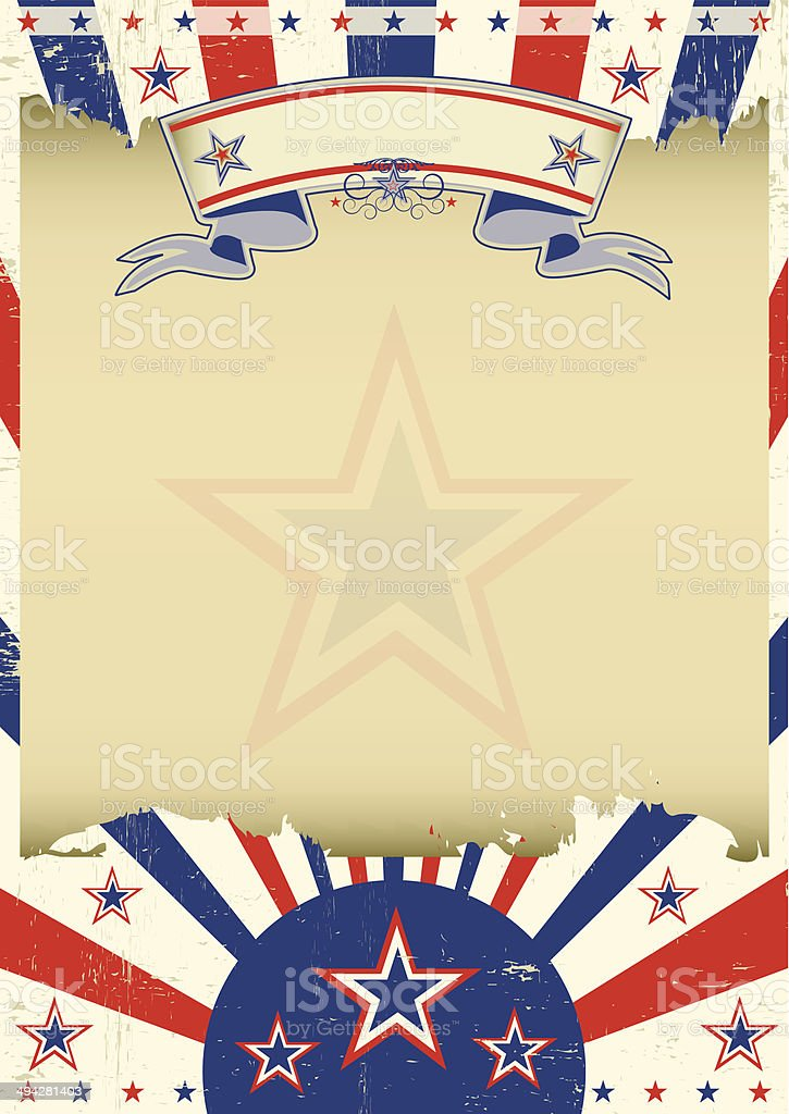 Patriotic parchment background vector art illustration
