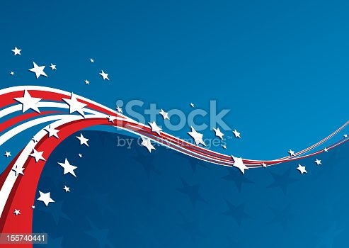 istock A patriotic red, white and blue background 155740441