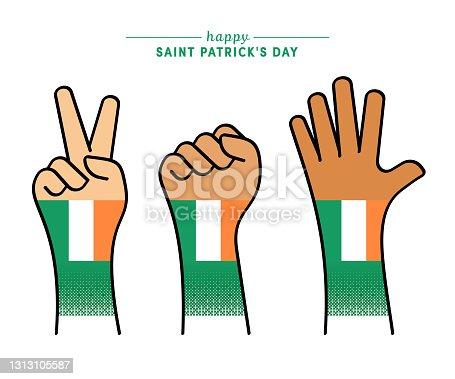 istock Patriotic Saint Patrick's Day Illustration 1313105587