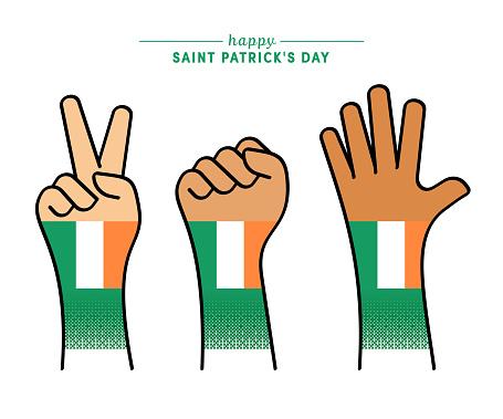 Patriotic Saint Patrick's Day Illustration