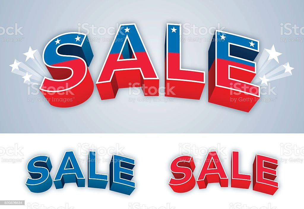 Patriotic Sale vector art illustration