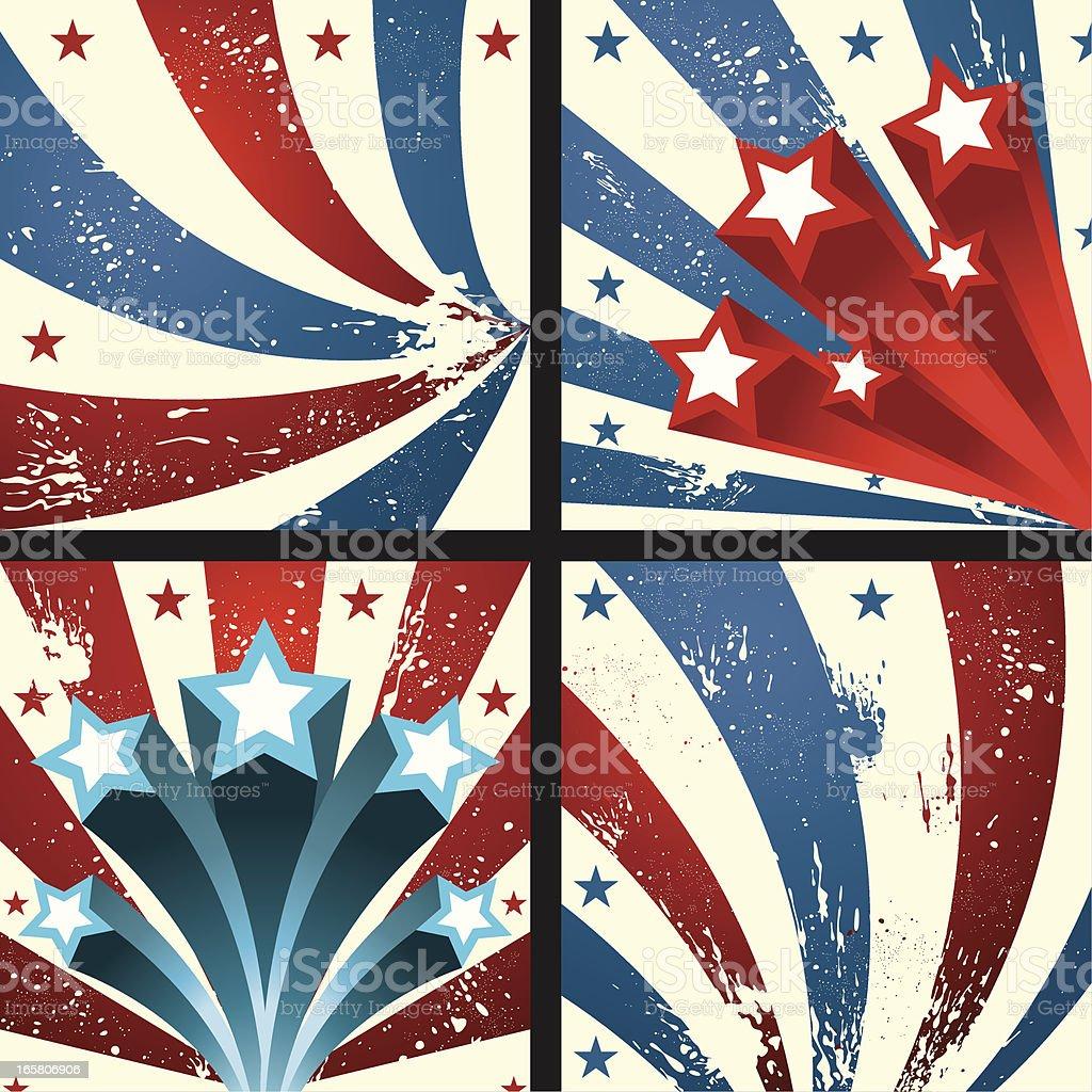 Patriotic Star Background royalty-free stock vector art