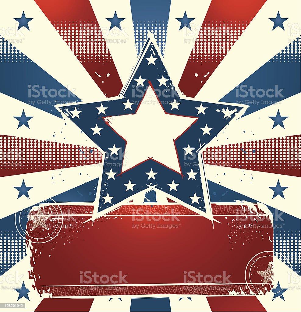 국가주의 거수 배너입니다 royalty-free 국가주의 거수 배너입니다 7월 4일에 대한 스톡 벡터 아트 및 기타 이미지