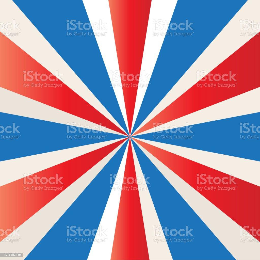 Patriottische Starburst Rode Witte En Blauwe Amerikaanse