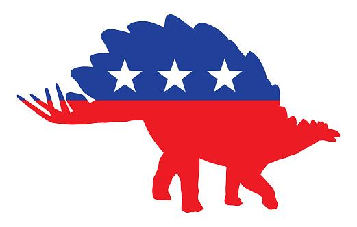 Patriotic Stegosaurus