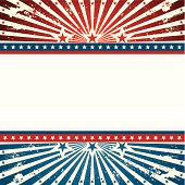 A vector illustration to show patriotic sunshine background