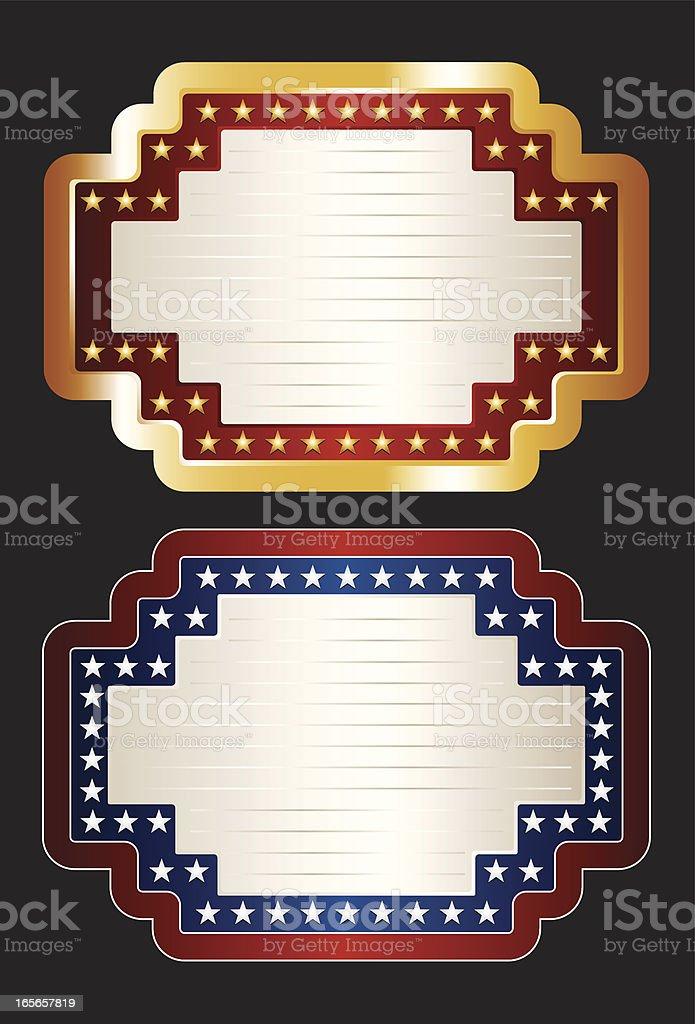 Patriotic Theater Marquees vector art illustration