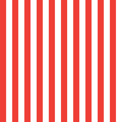Patriotic Indepandence Day wallpaper with American flag color red and white stripes pattern frame. National Event celebrate striped background with copy space for text. Vector Red and White Lines festive template.