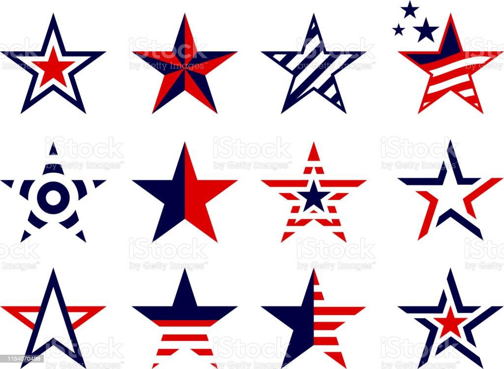patriotism concept stars set patriotism stars design elements Abstract stock vector