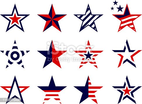 patriotism stars design elements