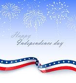 american stars and stripes celebration background