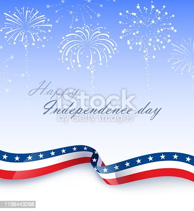american stars and stripes celebration background