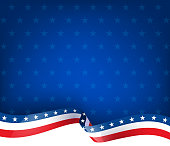patriotism fourth of july ribbon background