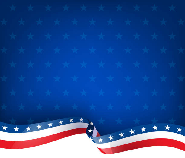 patriotism ribbon background - american flag stock illustrations