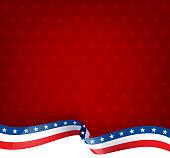 american flag ribbon patriotism background