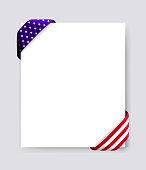 patriotic blank flyer brochure letter template american flag