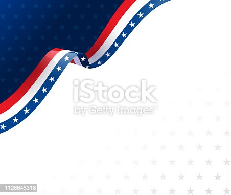 american flag border design corner background