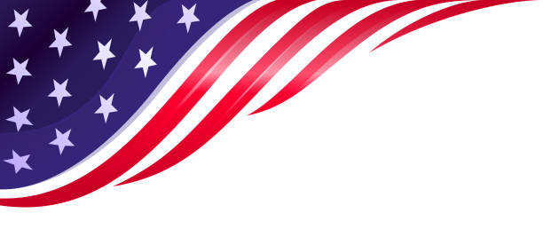 Patriotism american flag design element, background independence day illustrations stock illustrations