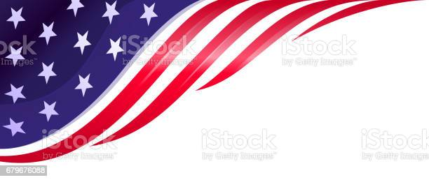 american flag design element, background