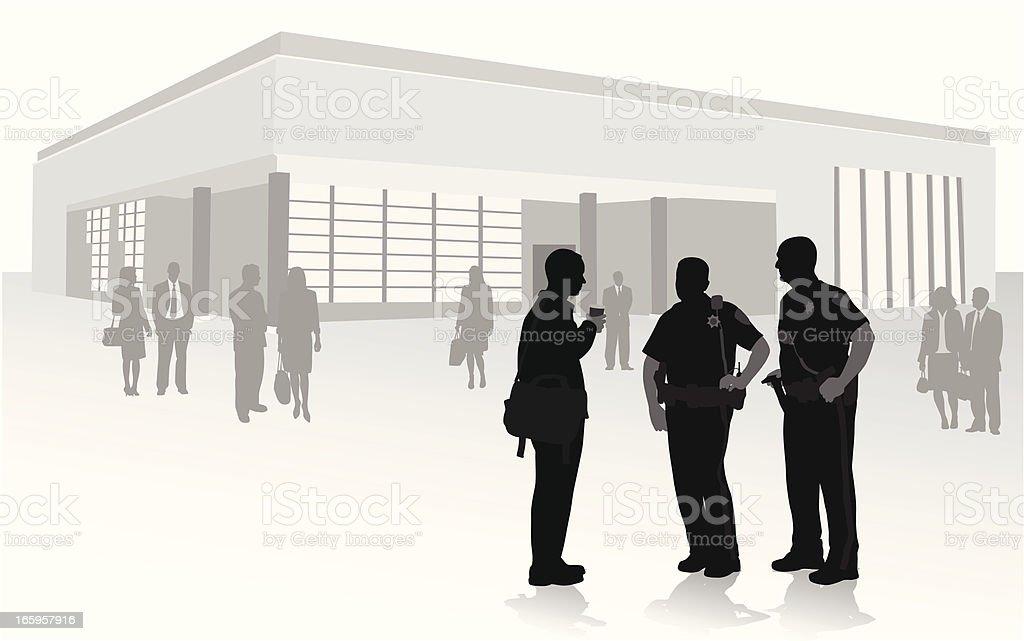 Patrolmen Vector Silhouette royalty-free stock vector art