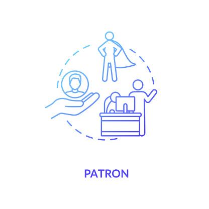 Patron concept icon