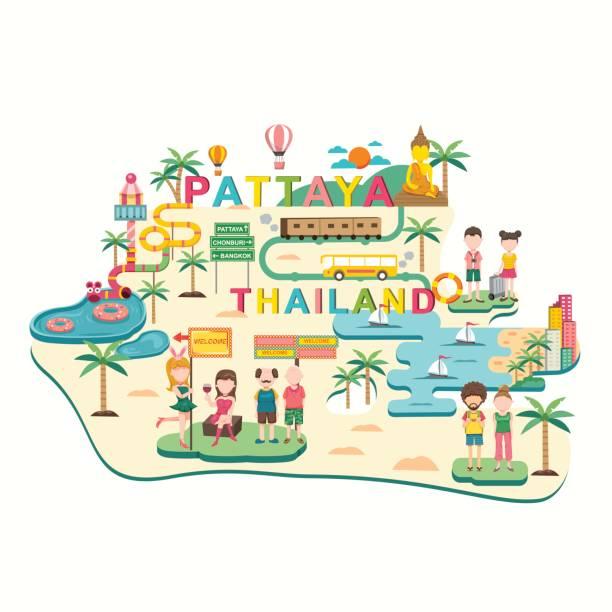pattaya reisen, thailand - pattaya stock-grafiken, -clipart, -cartoons und -symbole
