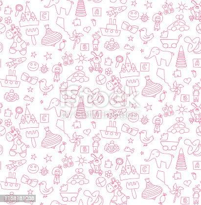 Pattern a set of children's toy