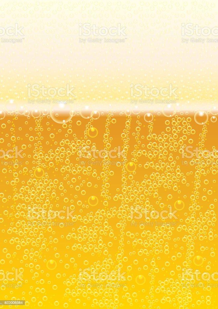 Pattern Background Bubble Beer vector art illustration