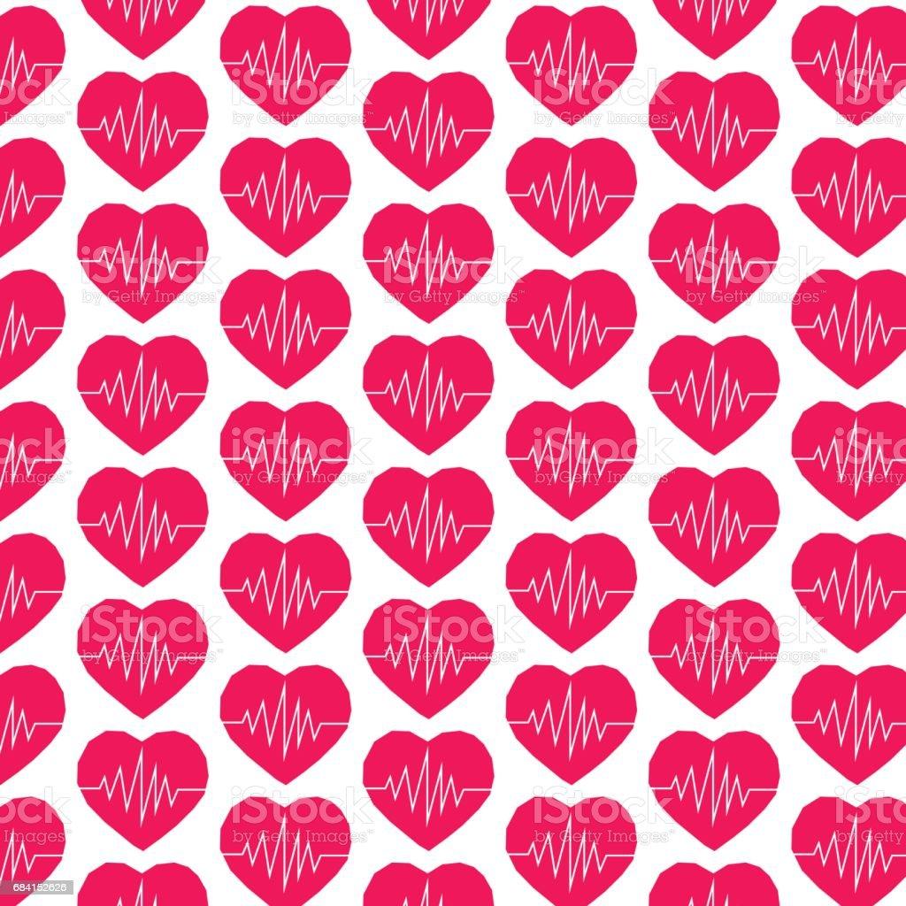 Pattern background heart icon pattern background heart icon - stockowe grafiki wektorowe i więcej obrazów abstrakcja royalty-free