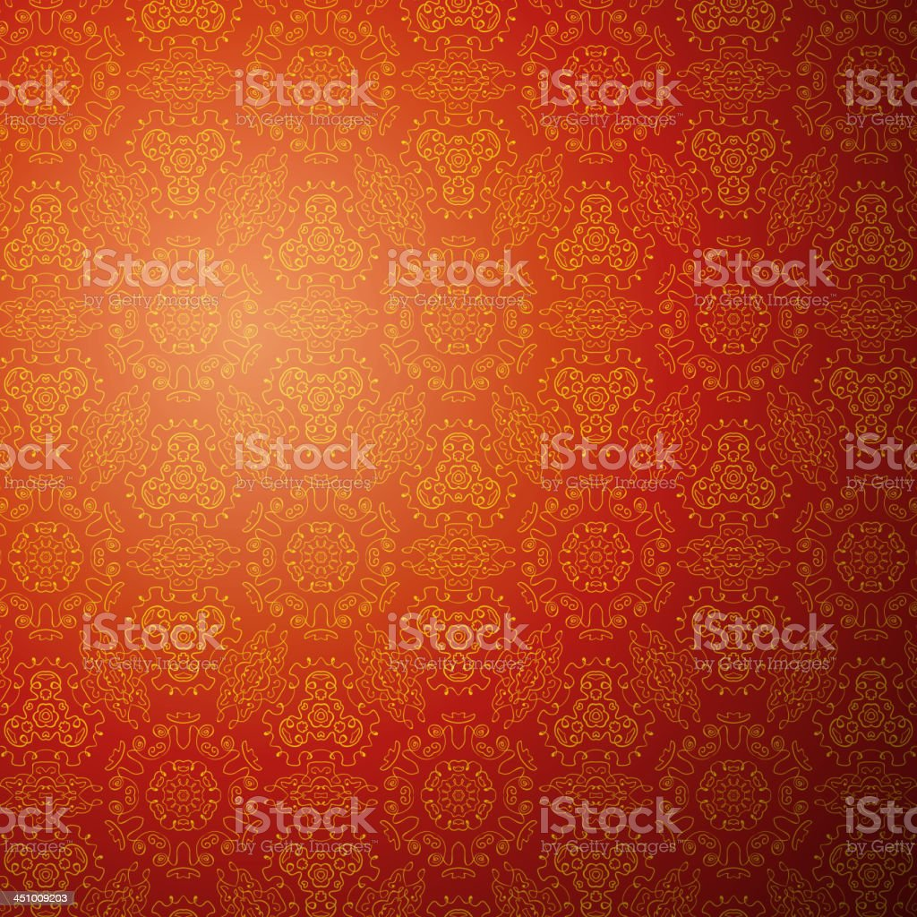 Pattern background in red and orange vector art illustration