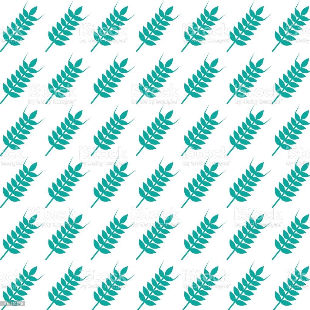 pattern background wheat ear icon pattern background wheat ear icon - immagini vettoriali stock e altre immagini di arredamento royalty-free
