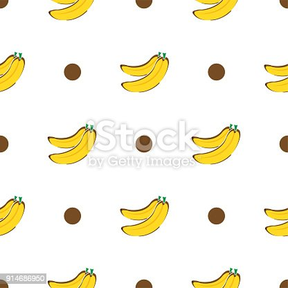 Pattern Banana Graphic Stock Vector Art More Images Of Art
