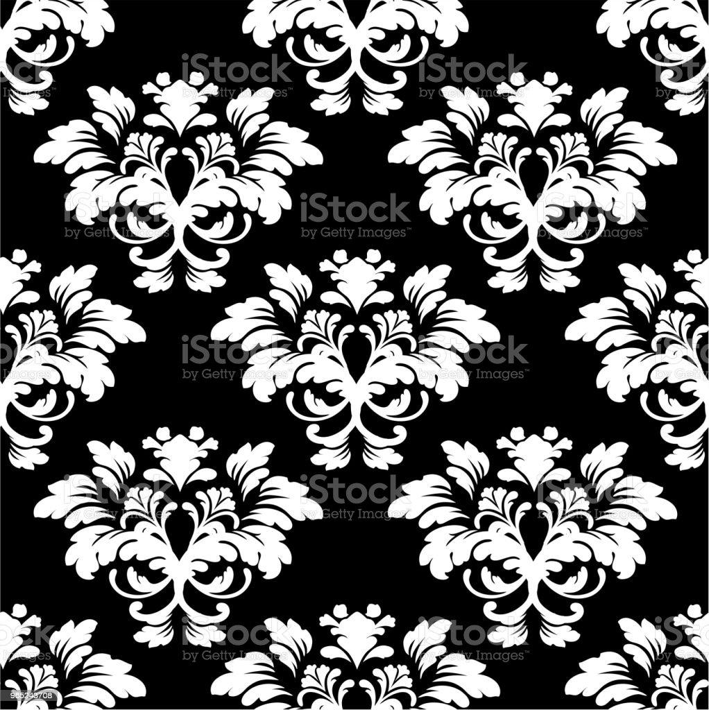 pattern black and white 031 pattern black and white 031 - stockowe grafiki wektorowe i więcej obrazów adamaszek royalty-free